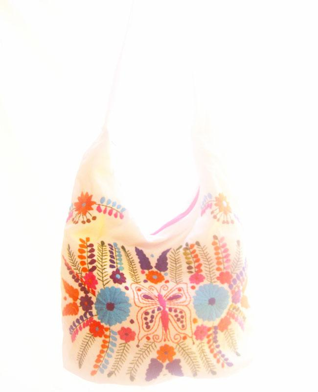 Mexican Bag Peace lover butterfly boho messenger embroidered bag
