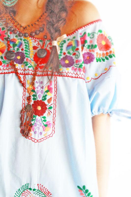 Elena Sky  Mexican embroidered dress