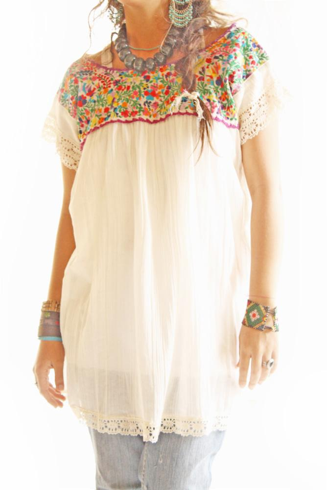 Handmade Mexican embroidered dresses and vintage treasures ...