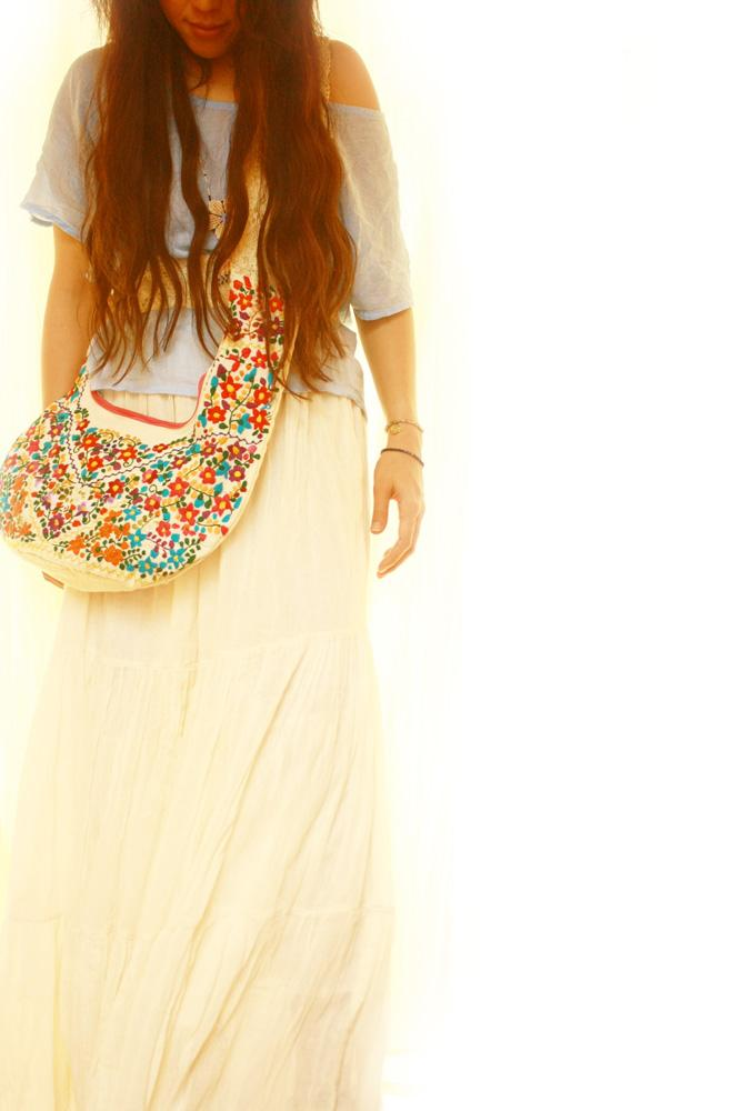 Mexican Embroidered Bag Bohemian Chic