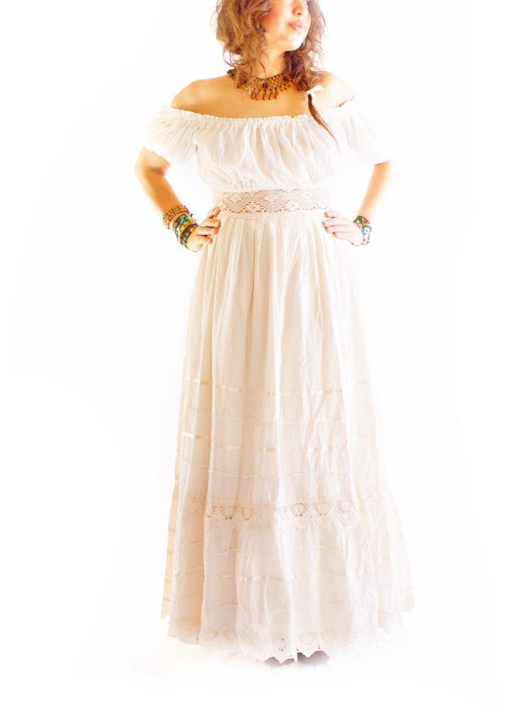 Camelia lacecrochet romantic Maxi Dress