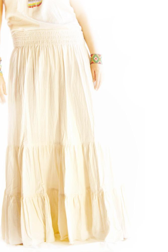 Macarena pure cotton mermaid romantic Maxi skirt