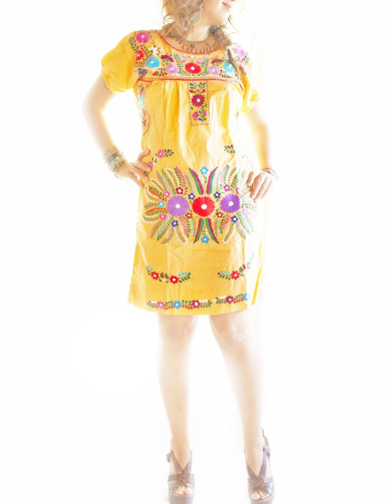El Durazno embroidered Mexican Dress