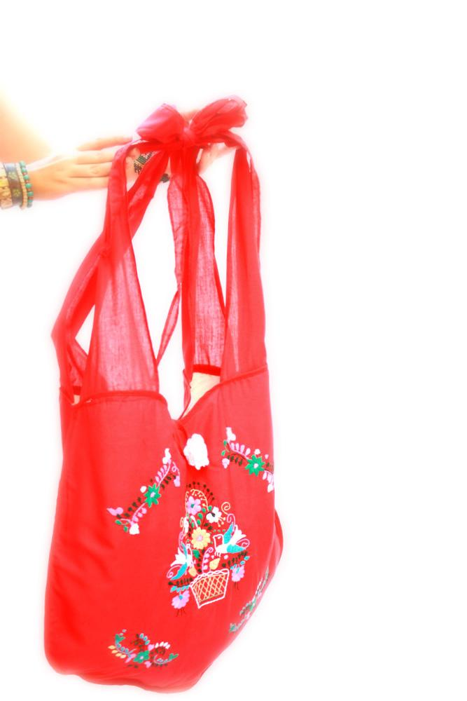 El Corazon Mexican embroidered bag tote