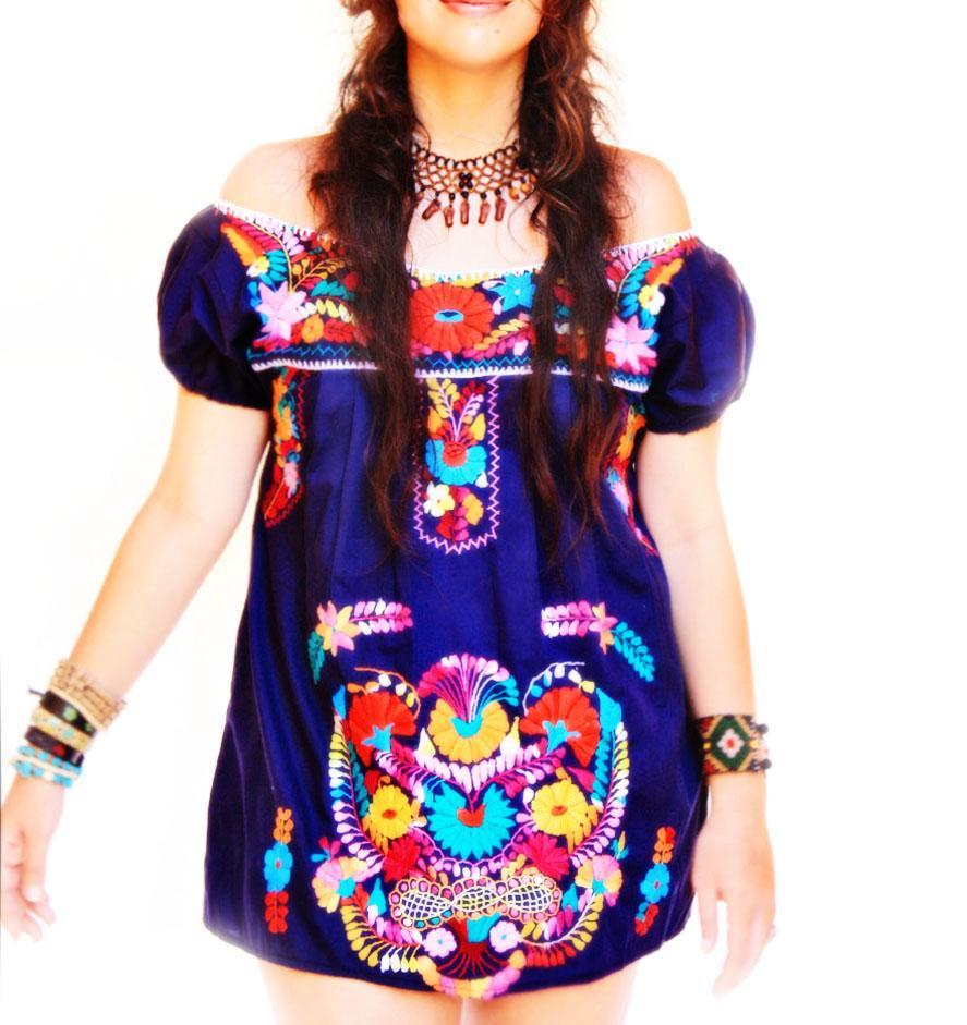 Marino ethnic bohemian embroidered mini tunic