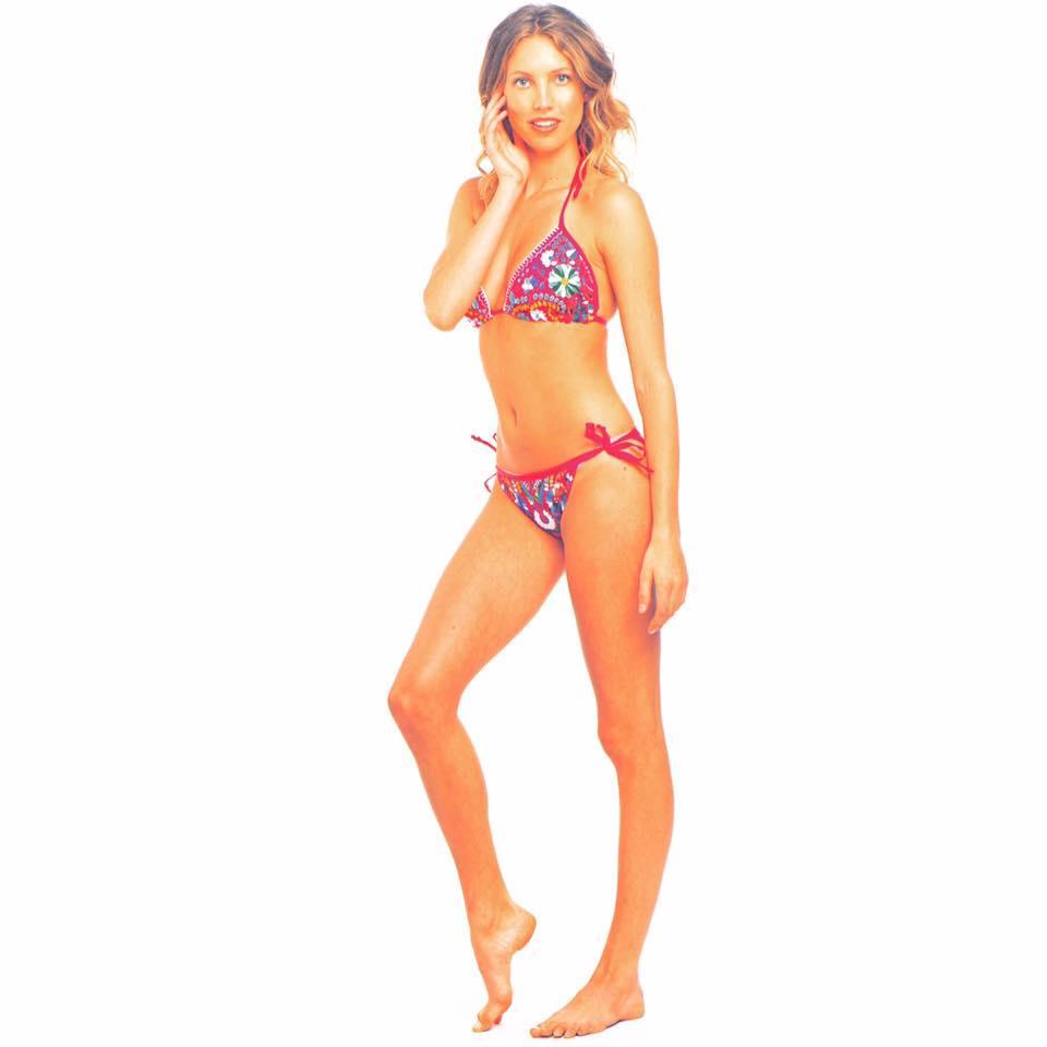 Linda Mexican embroidered bikini floral hippie bohemian chic