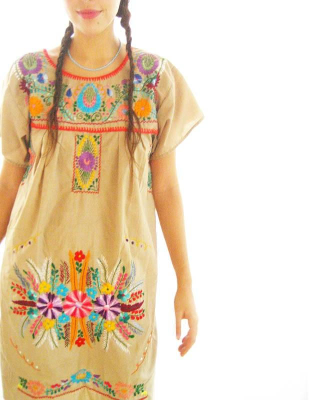 Native embroidered tunic dress