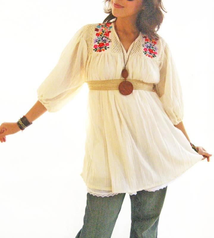 Blouson Tunic embroidered Spanish flare