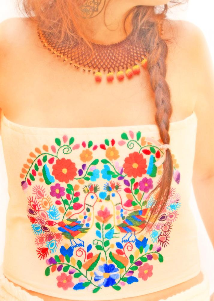 Frida Hand embroidered Corset Belt