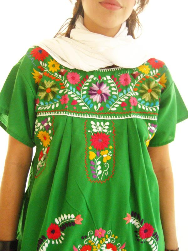 Green Jade Mexican dress