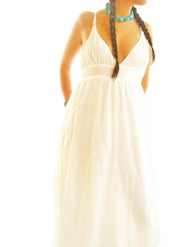 Frida Boho Fiesta white romantic Mexican Maxi dress