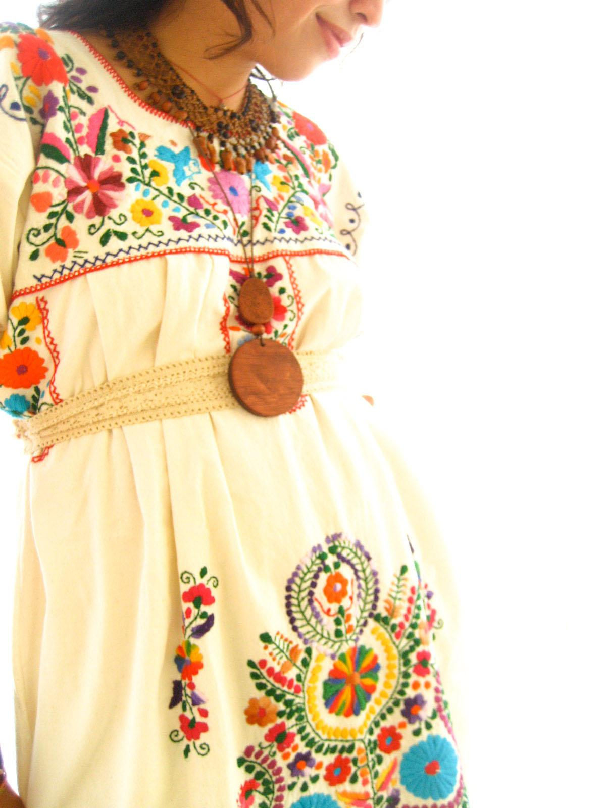 Los Pajaritos Mexican boho dress