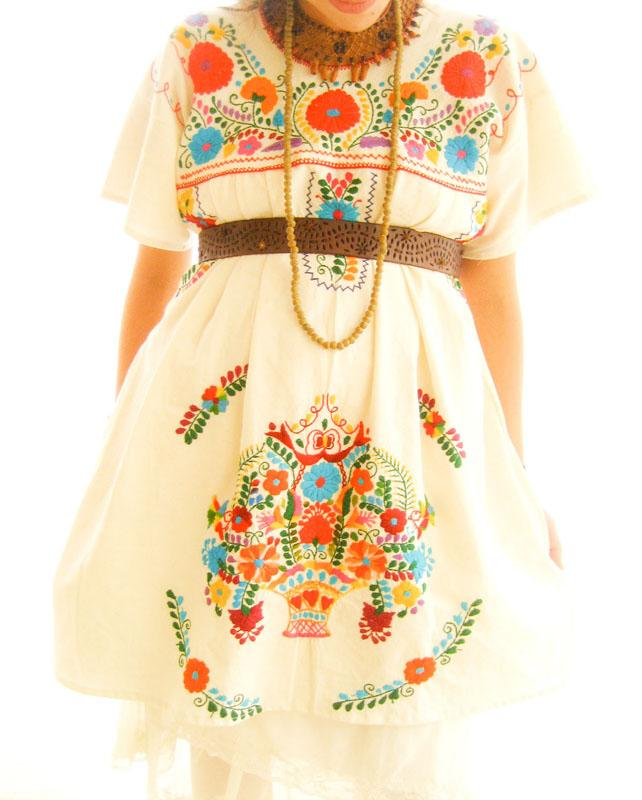 El Amor embroidered dress hippie chic wedding tunic