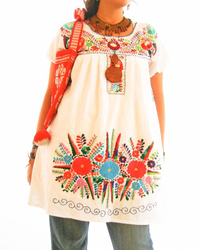 Mexico embroidered floral summer dress
