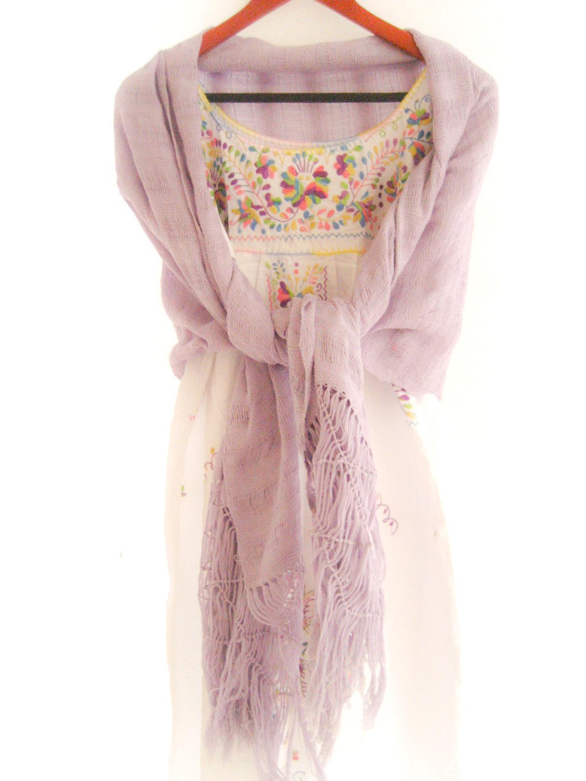 Rebozo ethnic wrap lavender love