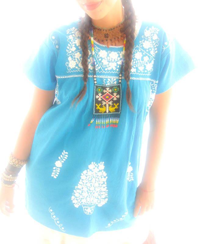 Sayulita Ocean Spirit Mexican peasant tunic indie dress
