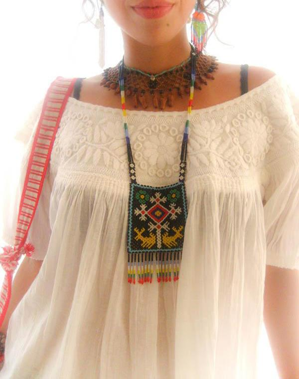Mexican Embroidered Vintage Blouse tunic top