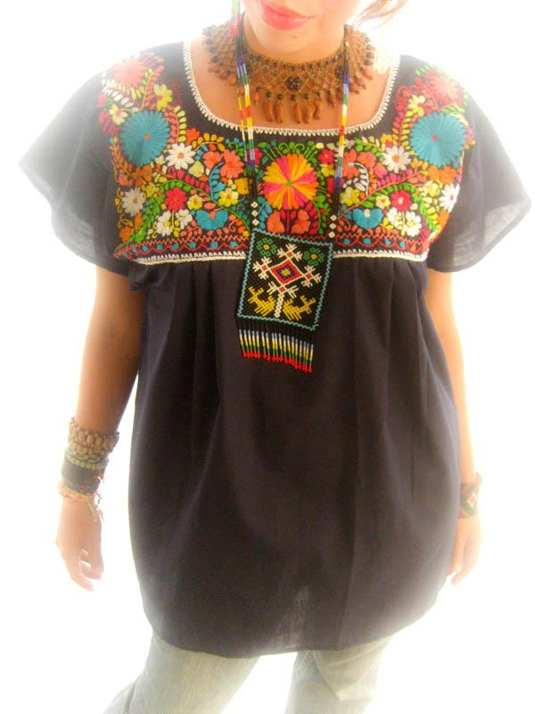 Indie hippie stylish 1960 Mexican top