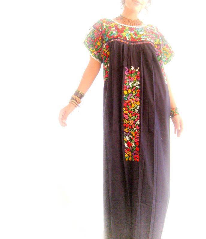 Frida San Antonino Mexican embroidered Maxi dress