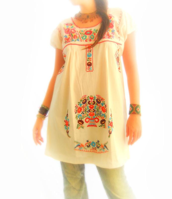 El Jardin Mexican embroidered dress