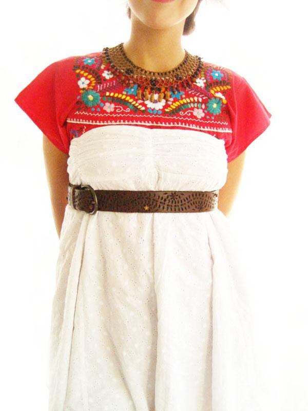 Mexico Love embroidered tunic dress