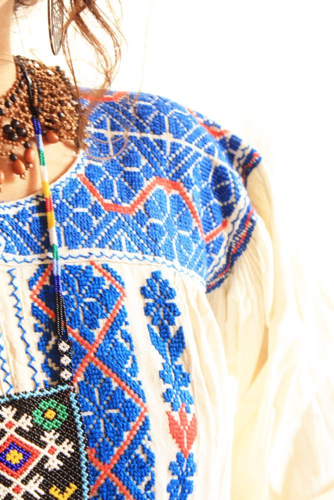 Azure Moon embroidered ethnic blouson
