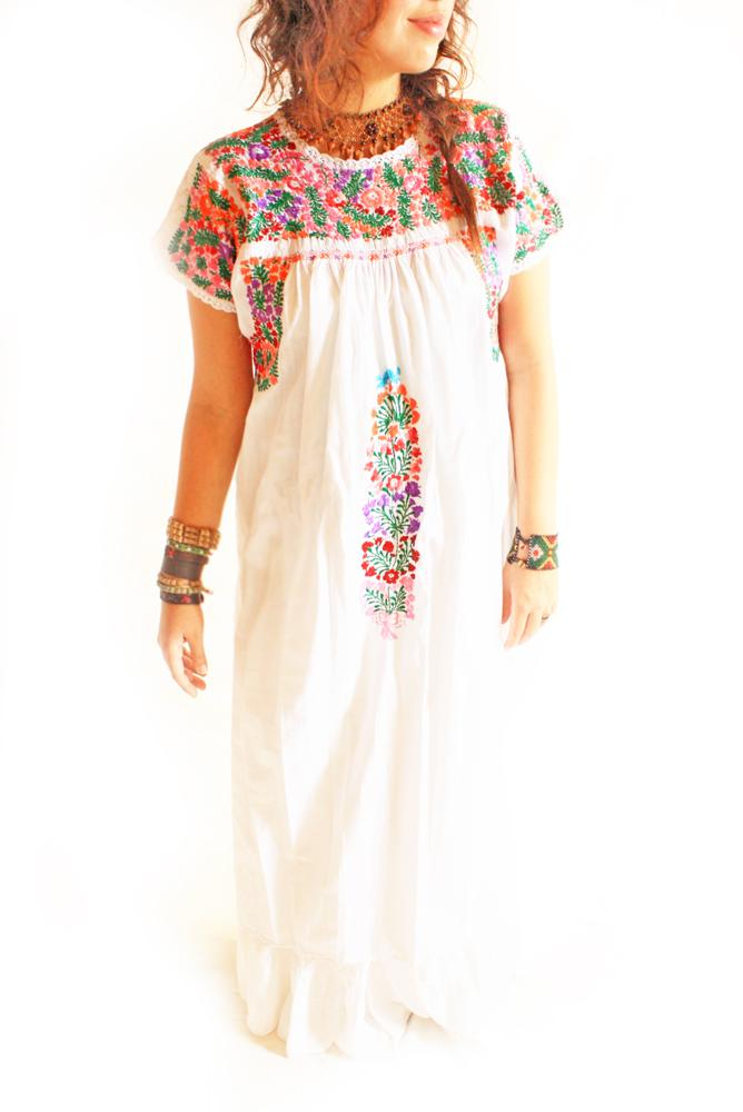 Maria San Antonino fine Mexican embroidered dress