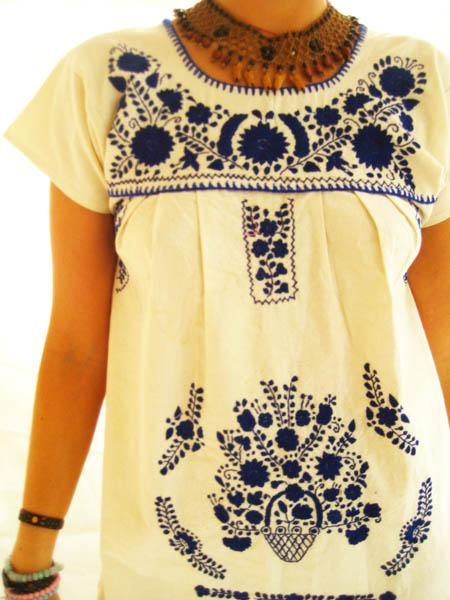 Mexican embroidered Gypsy Dress Talavera