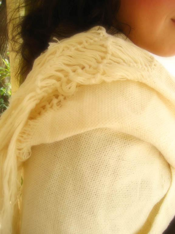 REBOZO foulard shawl in Cream winter