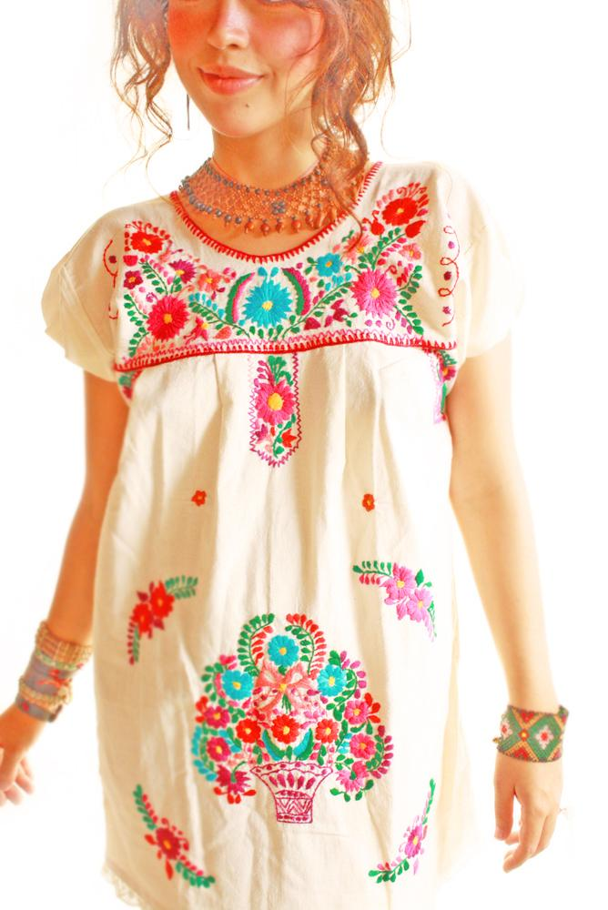 Las Florecitas Mexican Dress