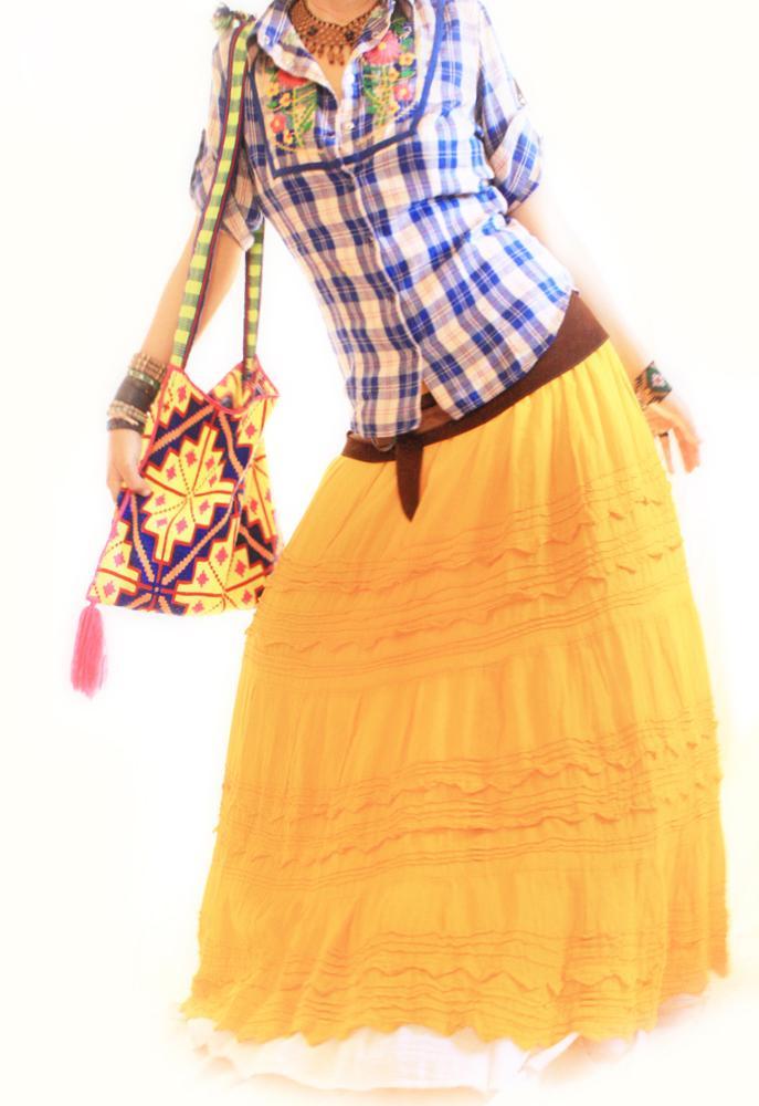 Mango Tango Picos Mexican peasant maxi skirt