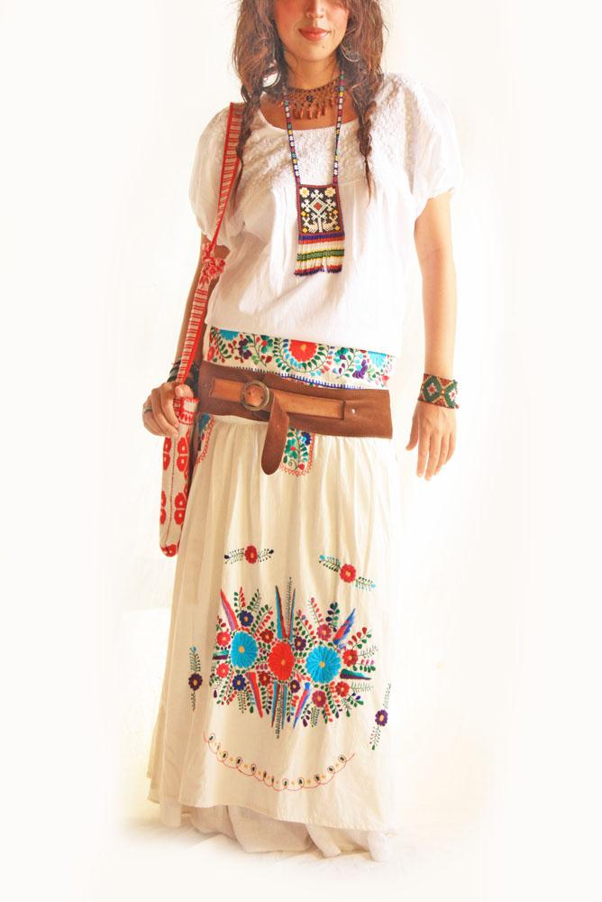Mexican Dress Skirt and Blouse Peace Love