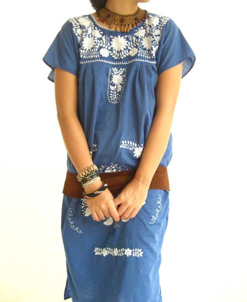 Mexican embroidered dress
