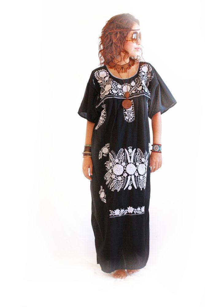 La Noche vintage boho Mexican Maxi dress
