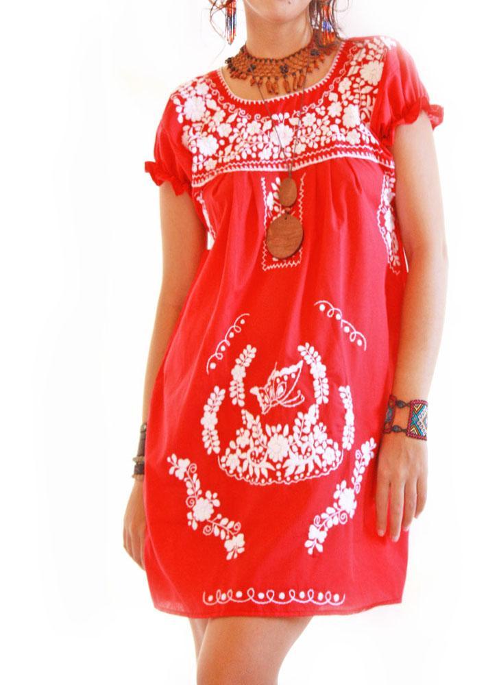 Peace Erfly Vintage Boho Mexican Dress