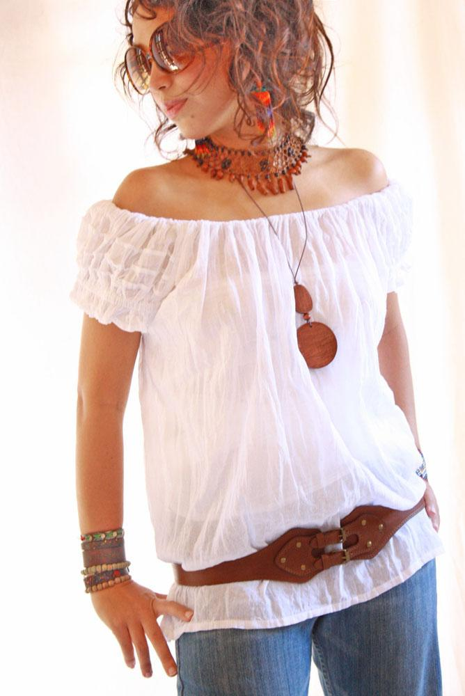 Amelia vintage cotton Mexican slip blouse