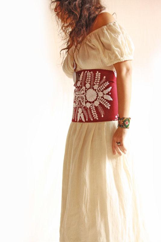 The Butterfly Romantic Mexican Belt crochet laces corset