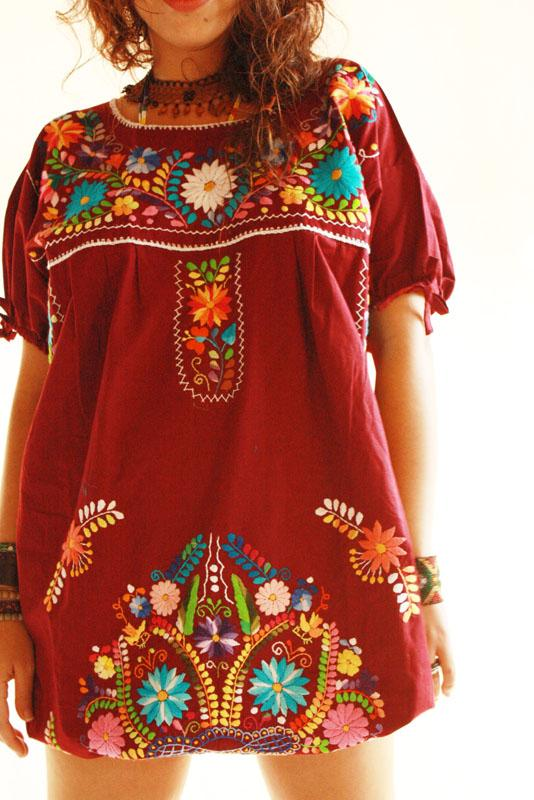 Elena Mexican Dress boho chic tunic
