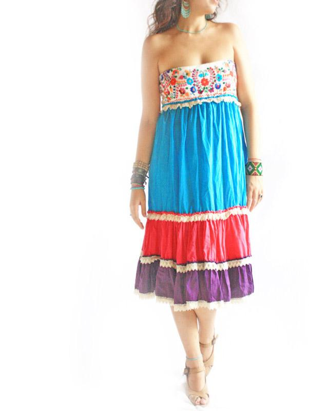 Olas de Amor romantic Mexican embroidered dress skirt