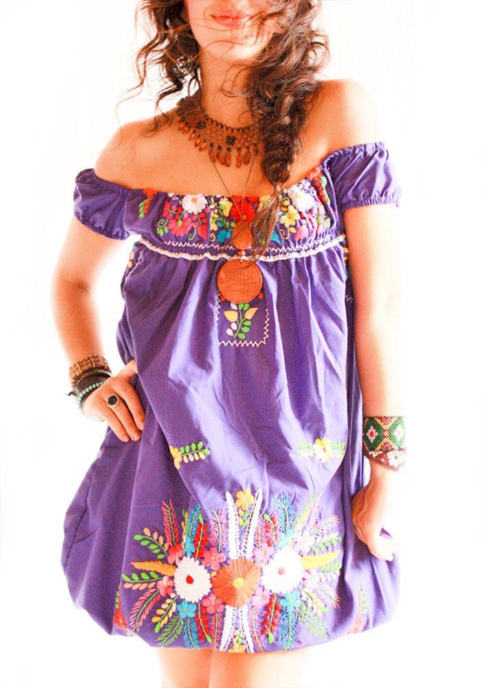 Off shoulder Mexican dress