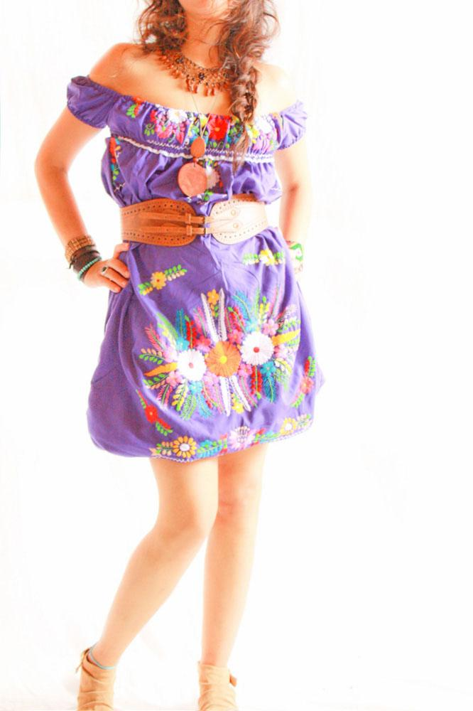 Amor Morado Off shoulder convertible bubble dress