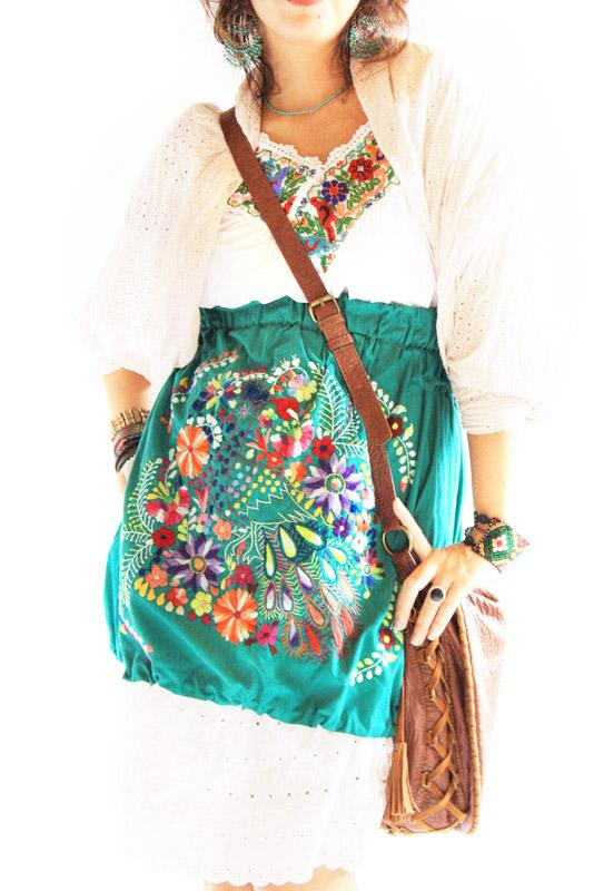 Mexican embroidered skirt