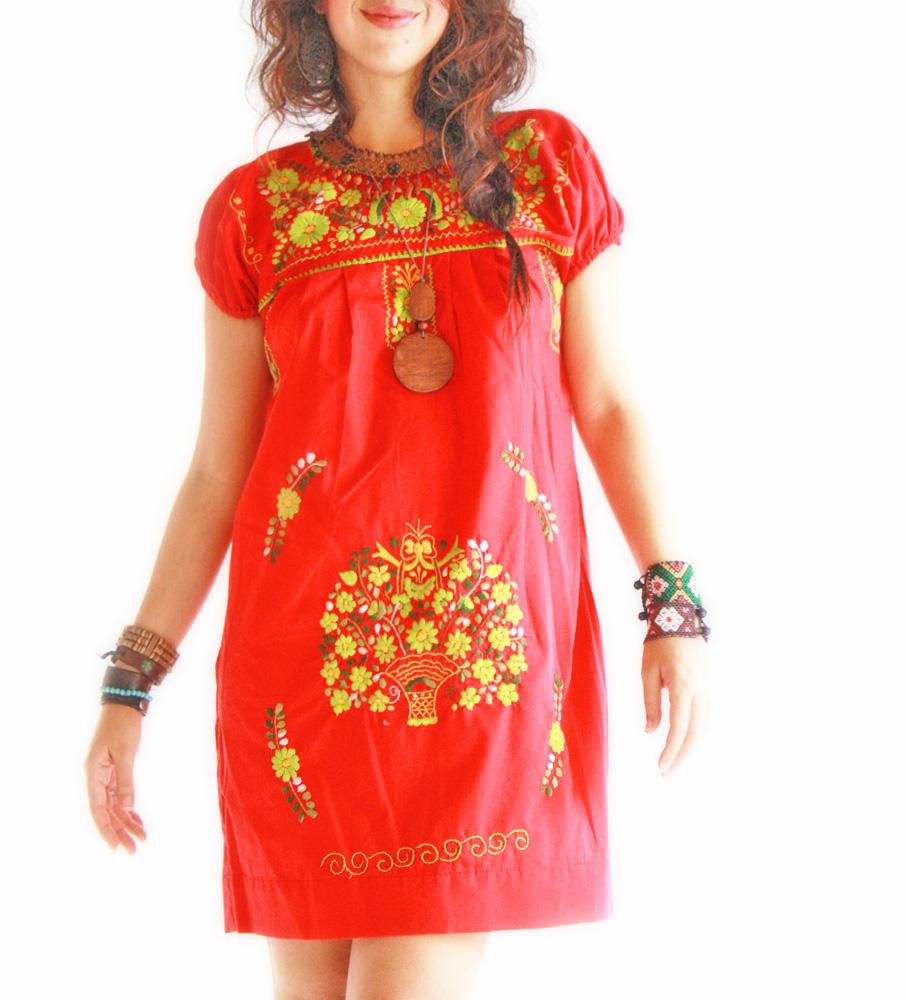 Cielo Rojo Mexican embroidered dress
