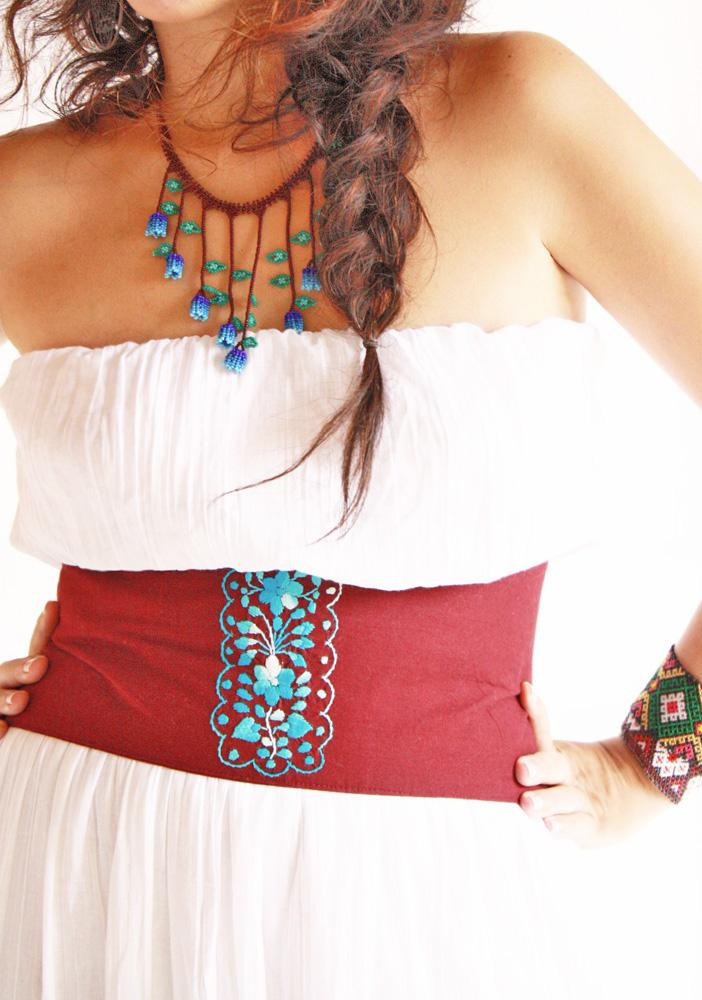 Mexican belt Wide embroidered