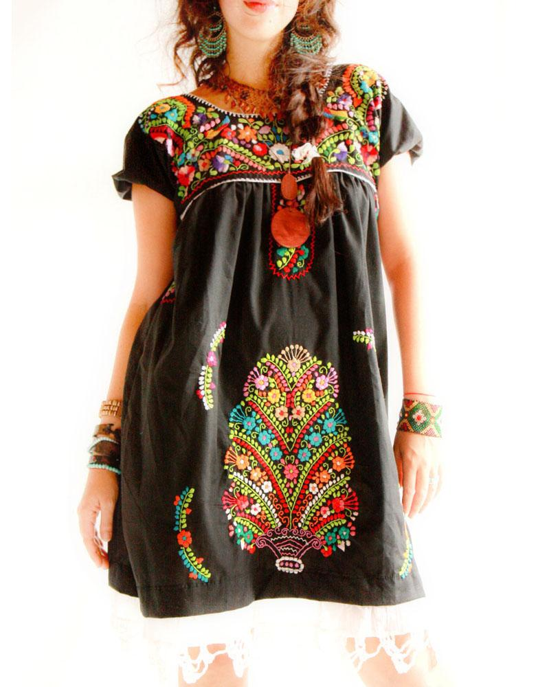 Handmade Mexican Embroidered Dresses And Vintage Treasures From Aida