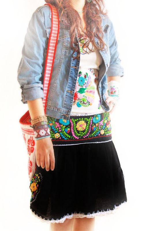 Rumba Mexican embroidered skirt