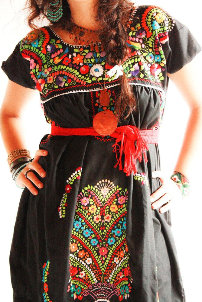 Handmade Mexican Embroidered Dresses And Vintage Treasures
