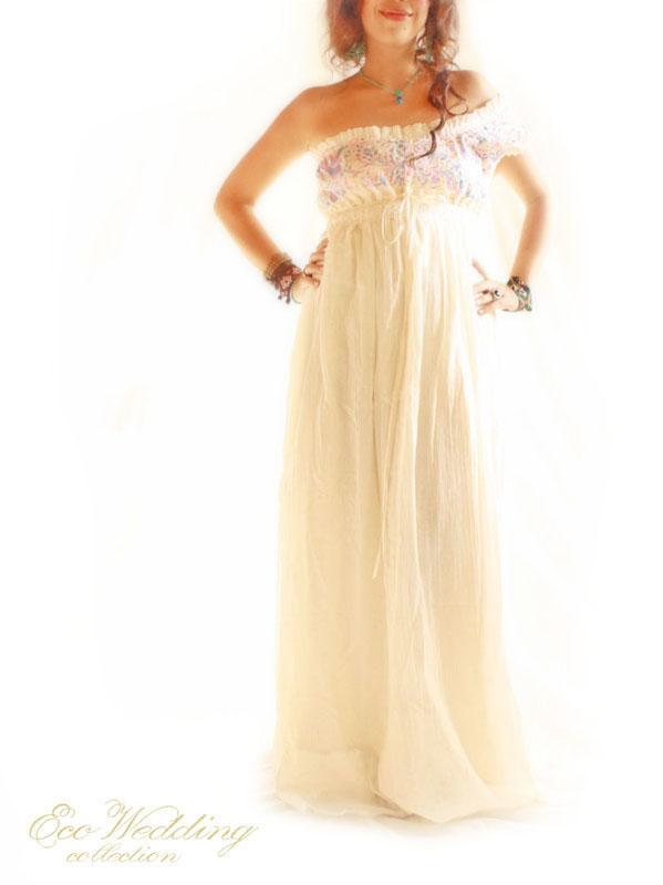 Minerva Goddess Mexican party wedding dress