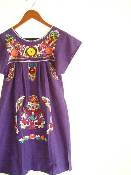 The Little Mexican Purplish Dress mini tunic stylish dress