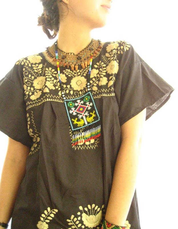 Elegant Black and embroidered Gold Stylish tunic